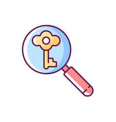 looking for key rgb color icon vector image