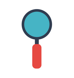Magnifying glass stationery tool icon image vector