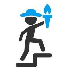Man leader icon vector