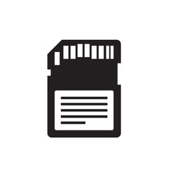 Memory flash card - black icon on white vector