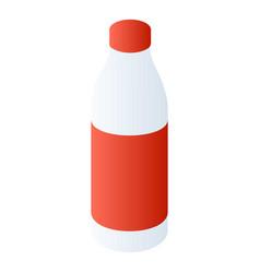 milk plastic bottle icon isometric style vector image
