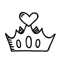 mothers day crown hand drawn icon design sign vector image
