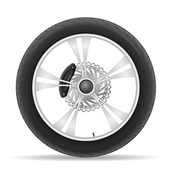 motorcycle wheel 02 vector image
