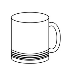 Mug with lines vector