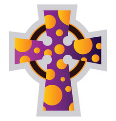 multicolor celtir cross religion ilustration on a vector image