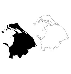 Northern province sri lanka map vector