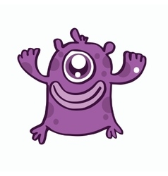 One eye monster cartoon design vector