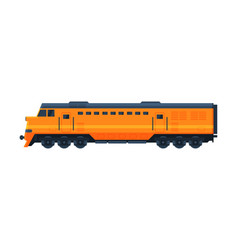 orange train railway locomotive railroad vector image