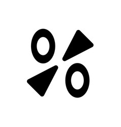 percentage icon discount percent isolated modern vector image