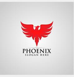 Phoenix bird logo design template vector