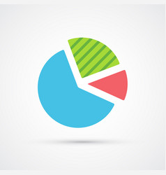 pie chart trendy symbol trendy colored vector image