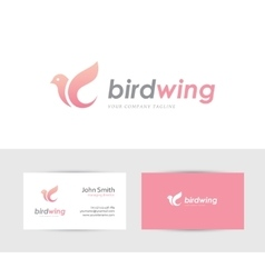 Pink bird logo vector