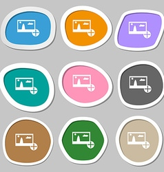 Plus add File JPG sign icon Download image file vector