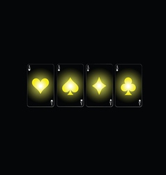 poker sign color vector image