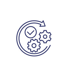 Positive impact or influence line icon vector