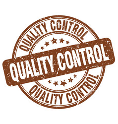 Quality control brown grunge stamp vector