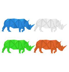 rhinoceros polygonal vector image