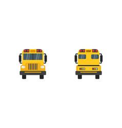 school bus in flat design school bus yellow view vector image