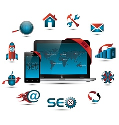 seo collection vector image
