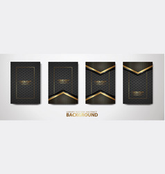 set cover design template with futuristic and vector image