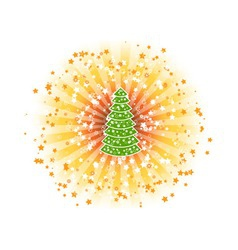Shine tree vector
