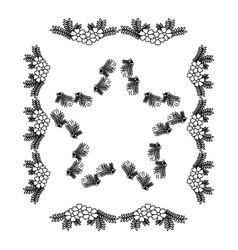 Square frame deoration floral vector