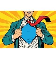 Super hero male businessman vector