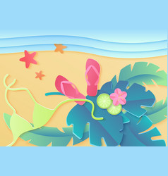 top view summer holidays poster vector image