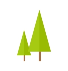 Trees in Flat Design vector image