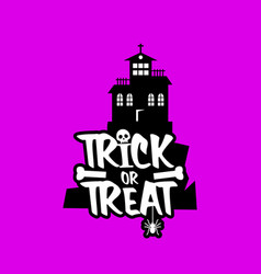 trick o treat design vector image