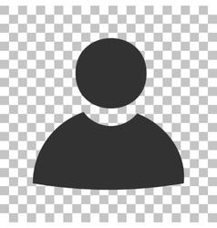 User sign Dark gray icon on vector image