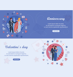 Valentines day and family anniversary engagement vector