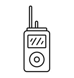 Walkie talkie icon outline style vector
