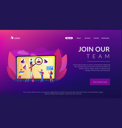 Wanted employees concept landing page vector
