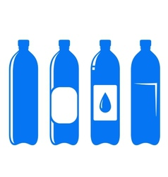 water bottle set vector image
