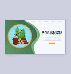 wood industry sawmill woodcutter lumbers vector image