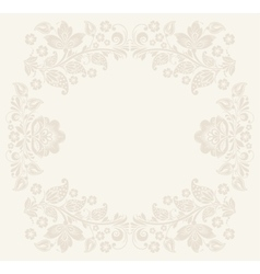 Birthday background with floral pattern vector image vector image
