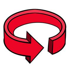 circular arrow sign icon icon cartoon vector image vector image