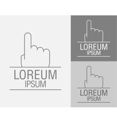 Hand with a raised index finger up vector image