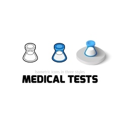 Medical tests icon in different style vector image vector image