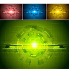 Set of bright backdrops vector image vector image