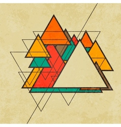 Triangular retro abstract background vector image vector image
