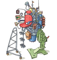 Cartoon Custom Rocket vector image