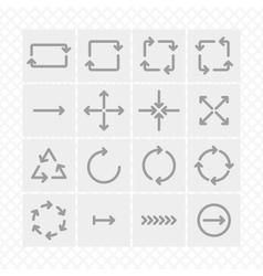curves arrow vector image