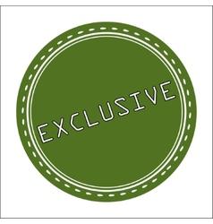 Exclusive Icon Badge Label or Sticke vector image vector image