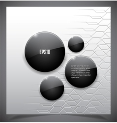 Glossy black speech bubble vector image
