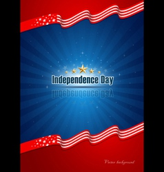 poster independence day design background vector image