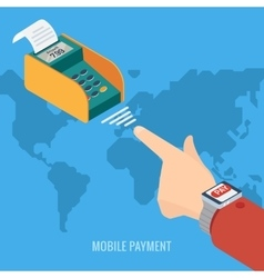 Smart Watch payment concept vector image vector image
