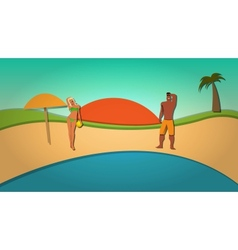 Summer and Beach vector image vector image