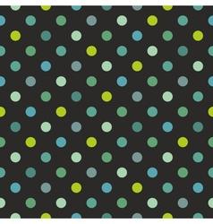 Tile polka dots dark pattern vector image vector image